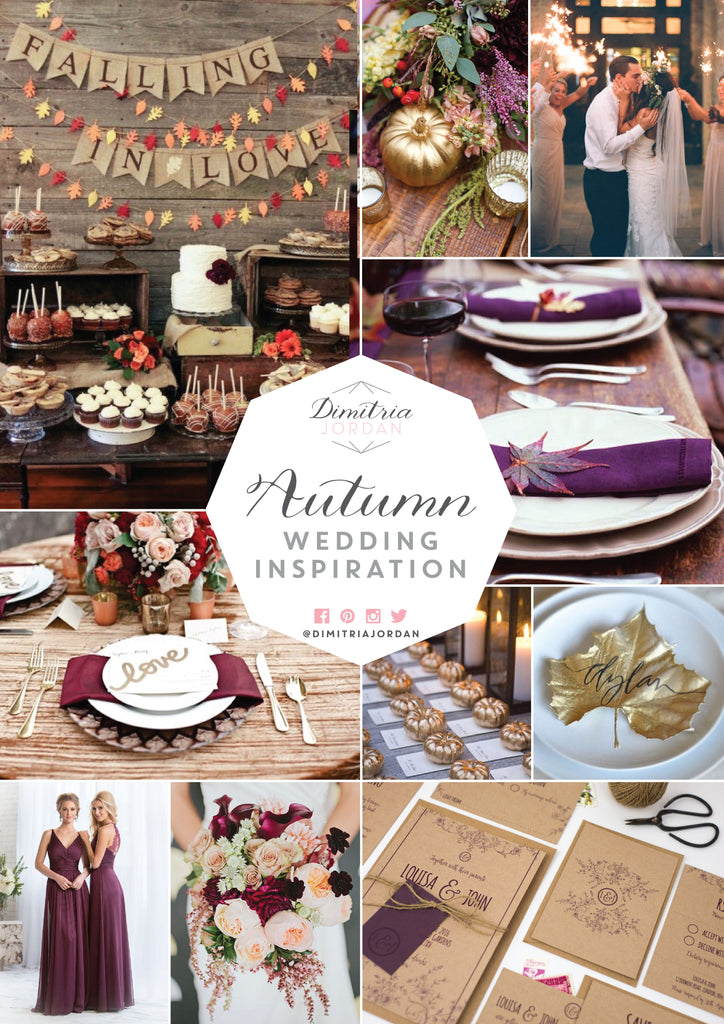 Dimitria Jordan Autumn Wedding Inspiration