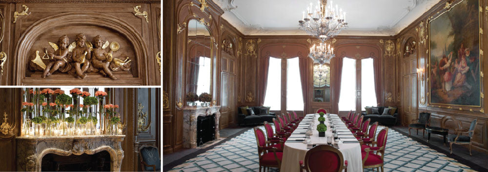 Claridge's French Salon wedding reception space and details