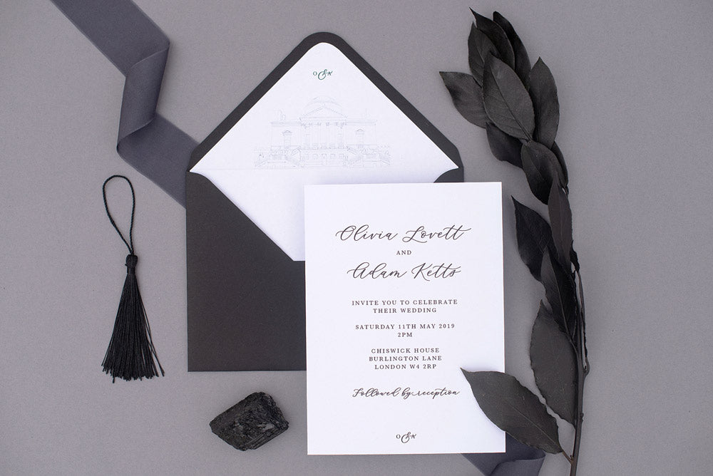 Chiswick House wedding stationery