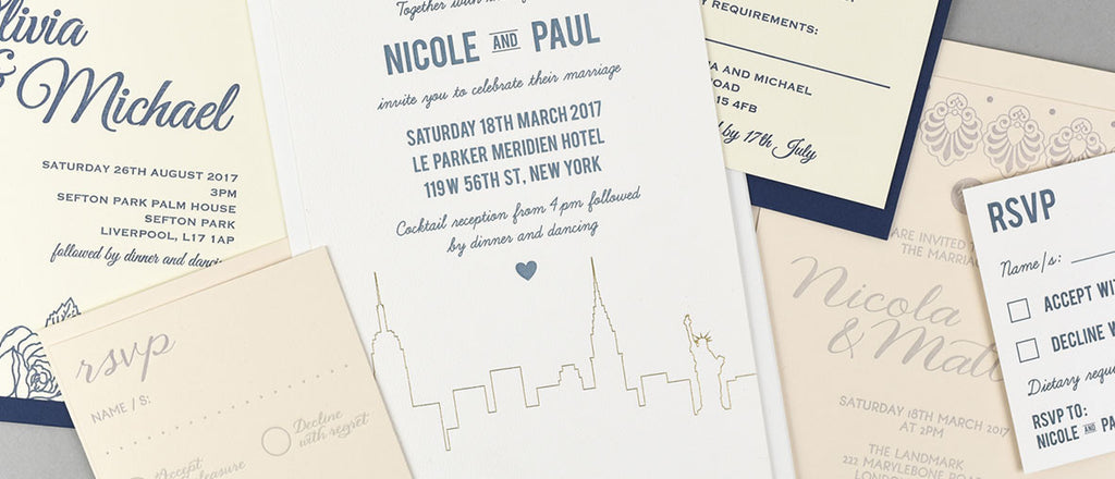 Dimitria Jordan Lost Heritage letterpress wedding stationery