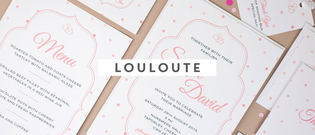 Louloute wedding stationery