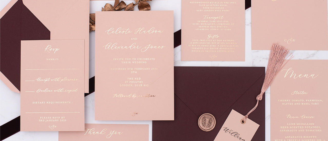 Olympia Elegant wedding invitations