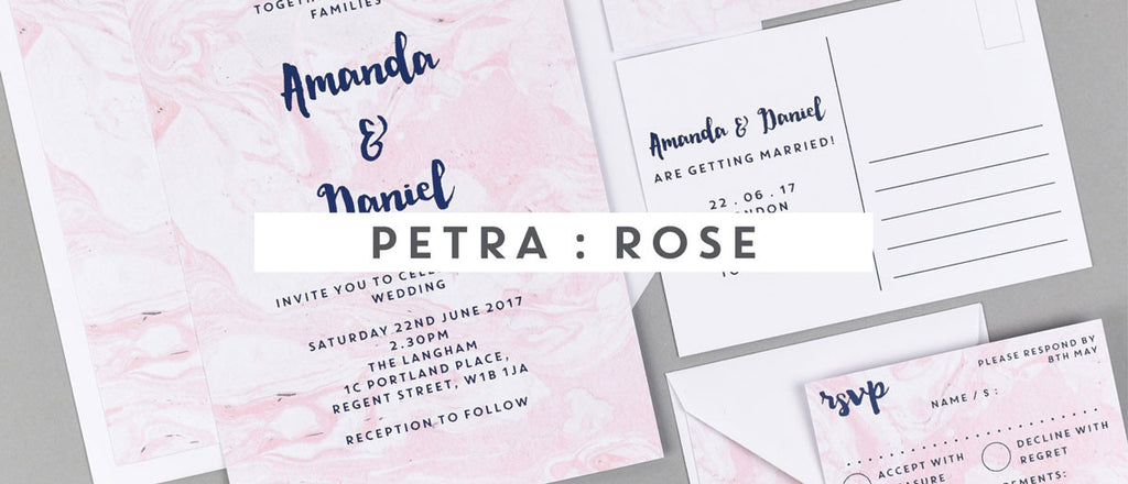Petra : Rose wedding stationery