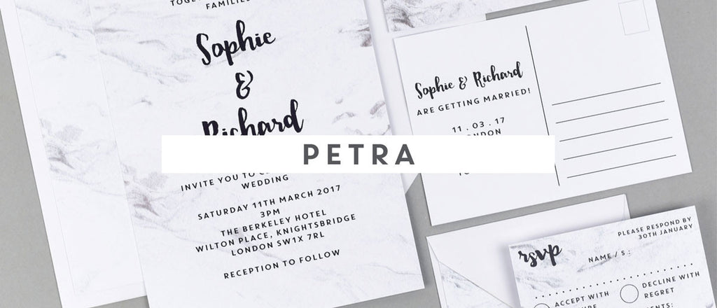 Petra wedding stationery