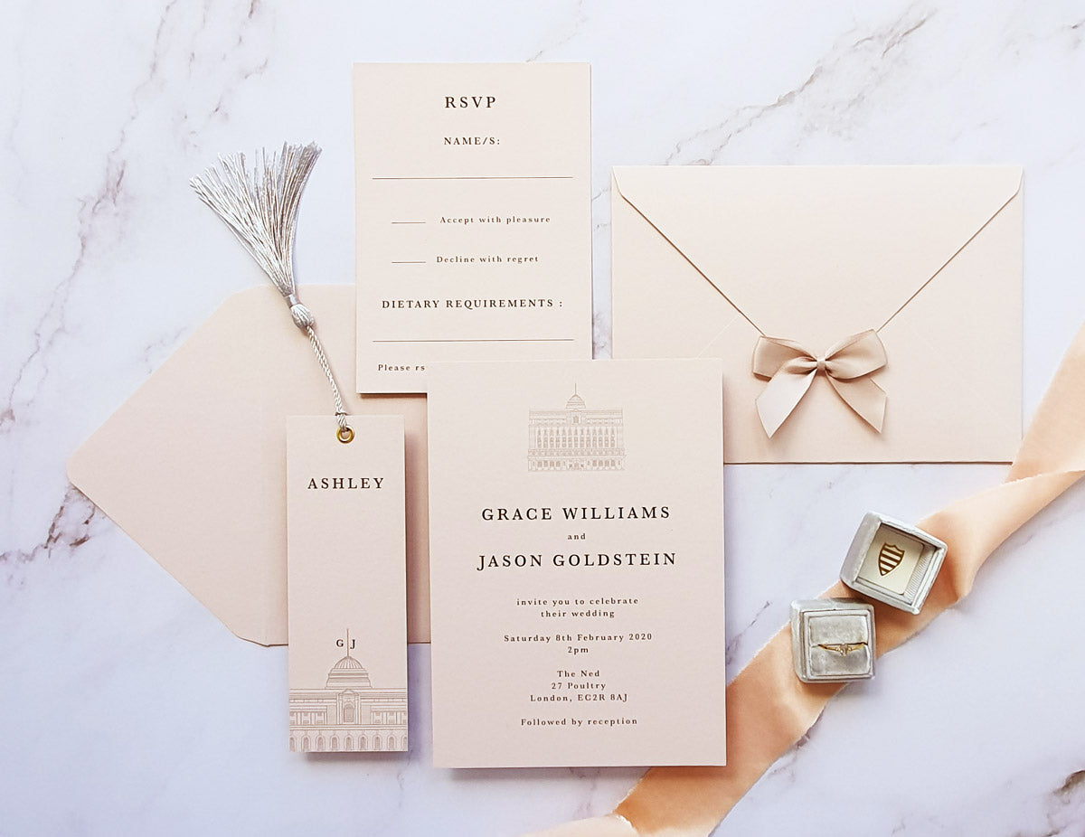 The Ned wedding stationery collection
