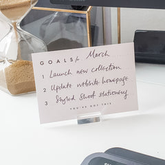 Goal-setting card & stand set