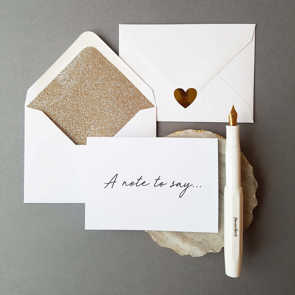 'A note to say...' Card Set