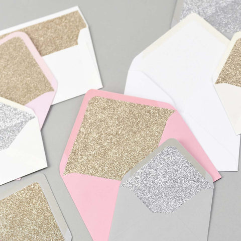Glitter lined envelope