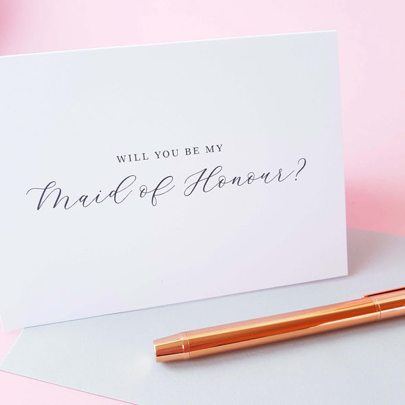 Maid of Honour Card