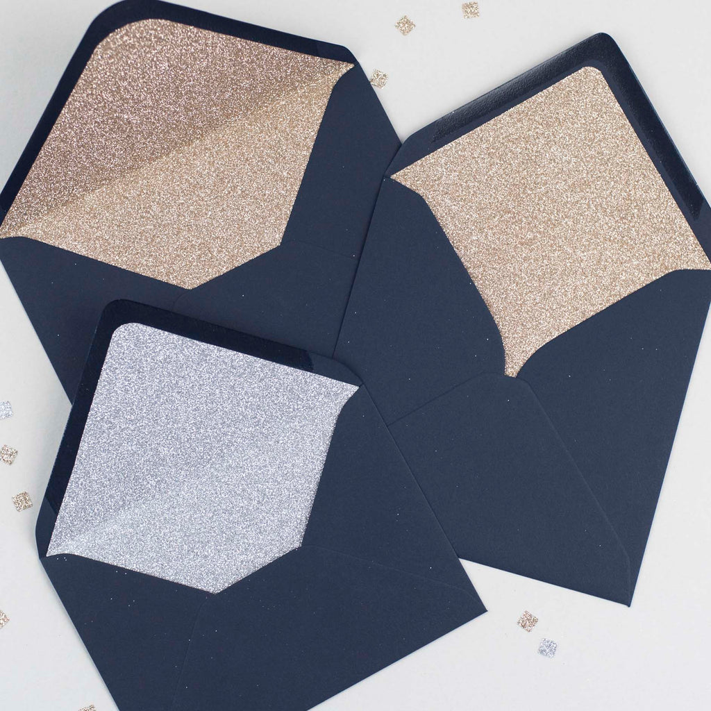 Glitter-lined envelope : Sample