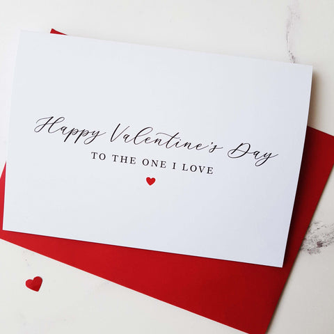 To the One I love Valentine's Card