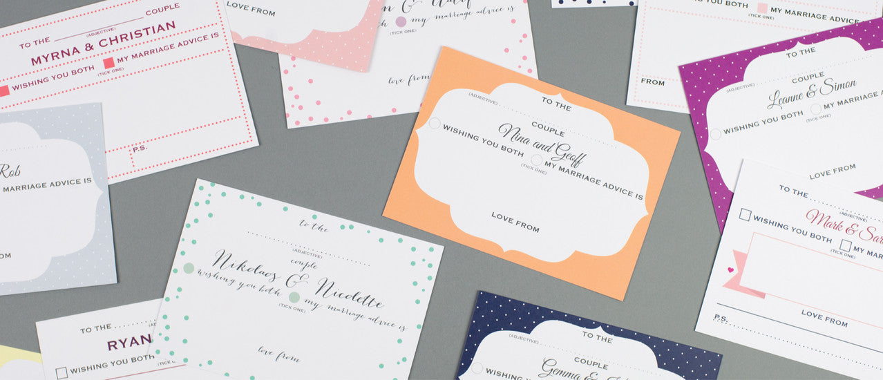 Dimitria Jordan | Personalised Wedding Advice Cards