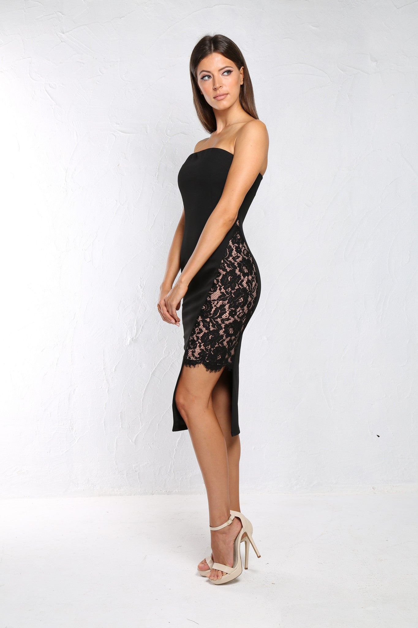 Nicole black lace dress