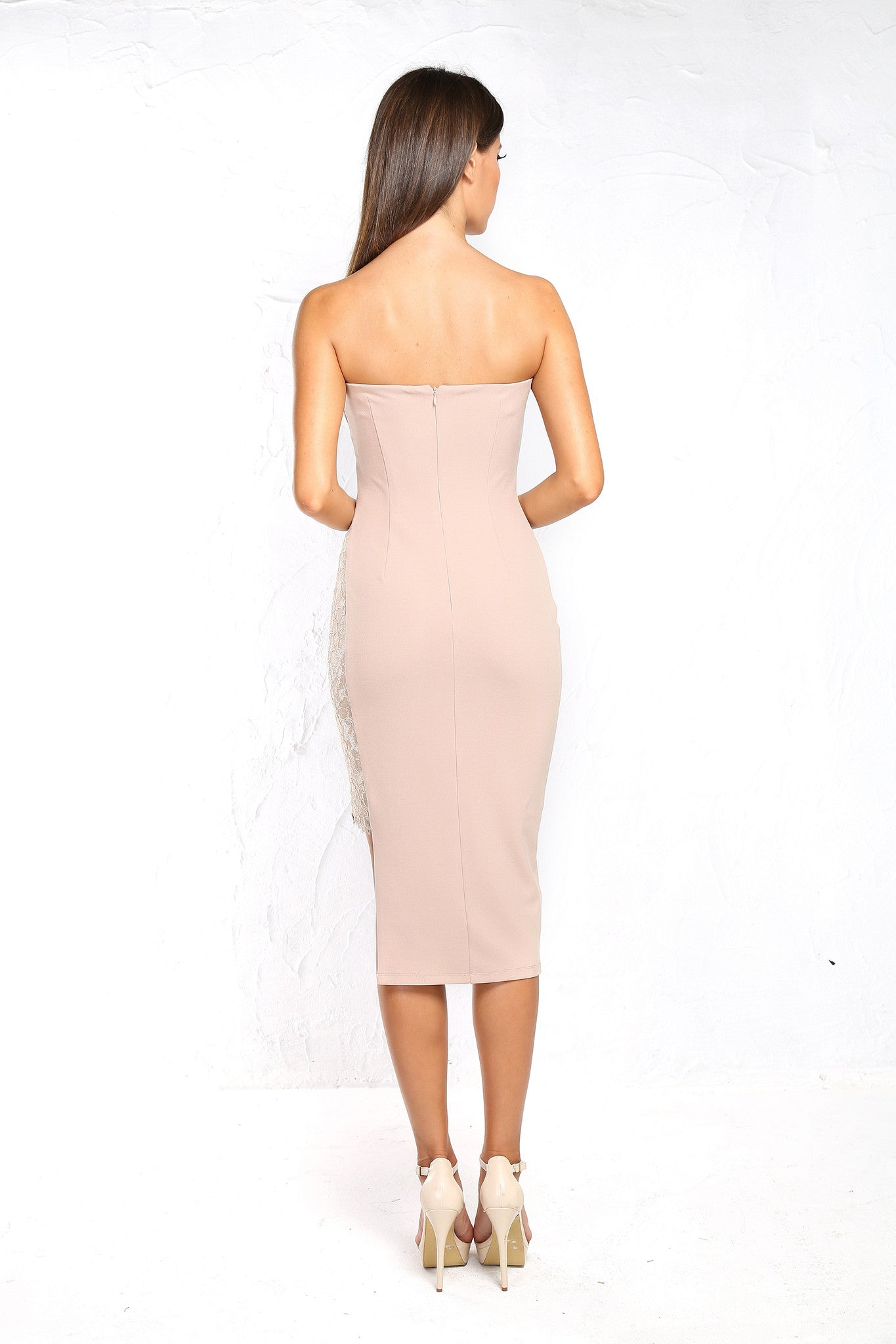 Nicole Blush Midi Dress