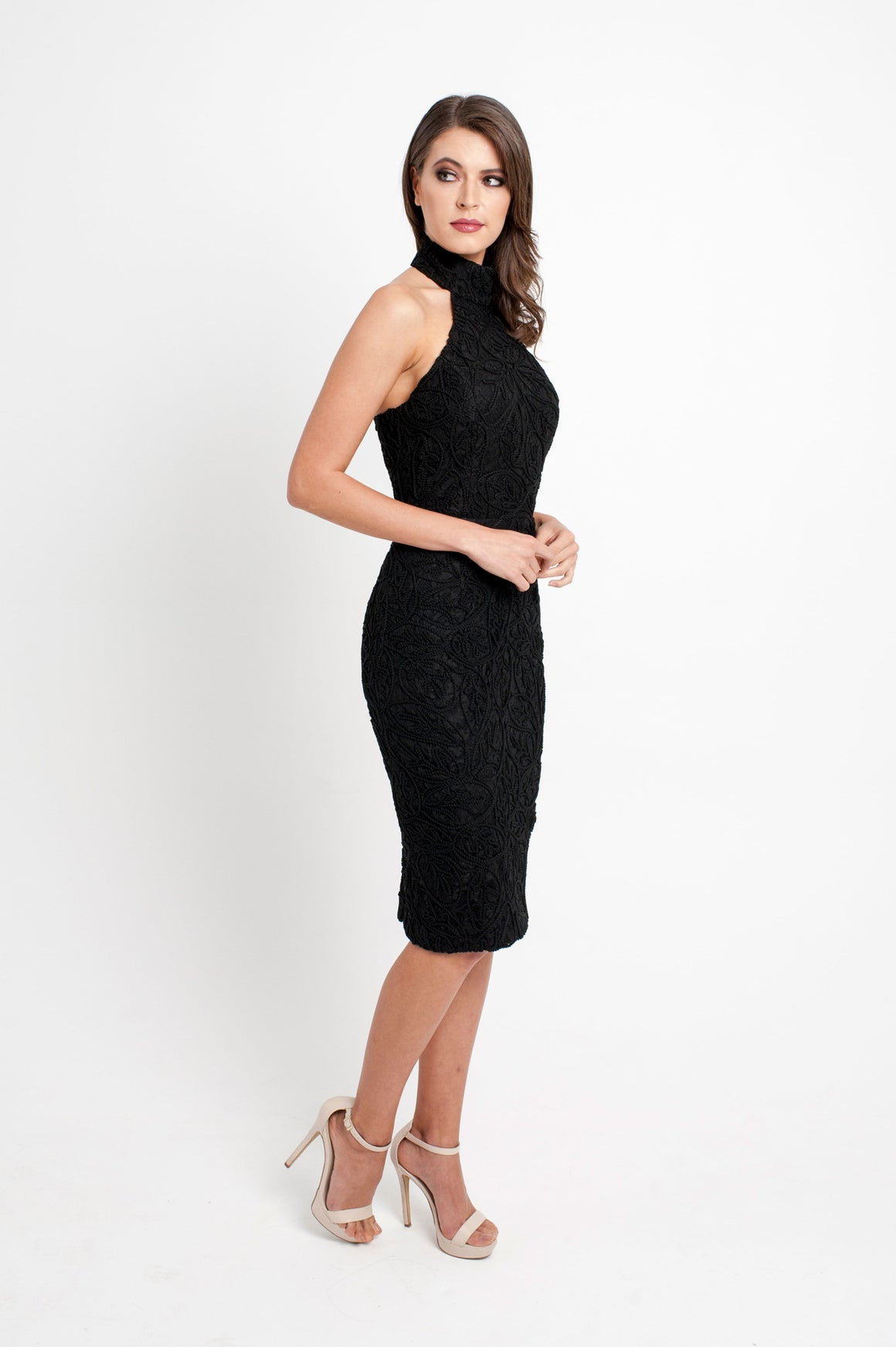 Sabine Halter Textured Dress