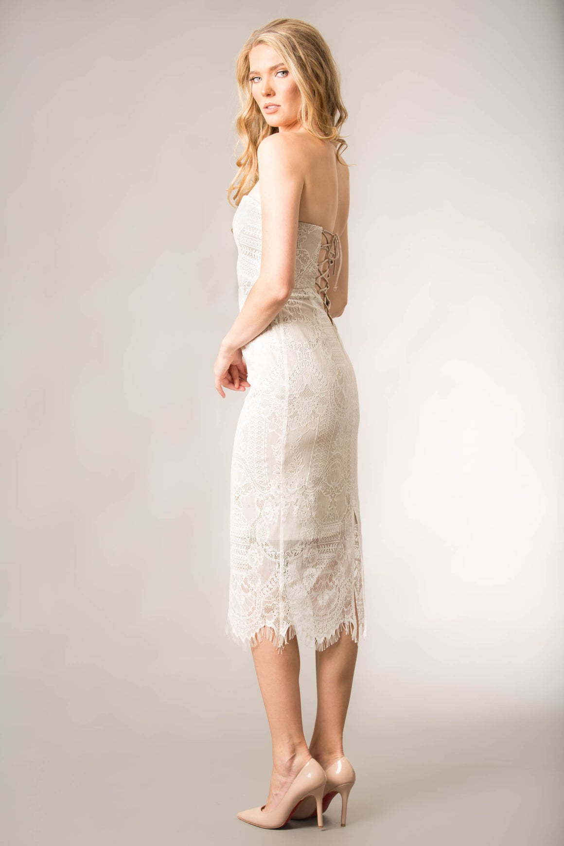 Mila Lace Dress Ivory
