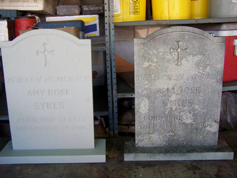 tombstone before after