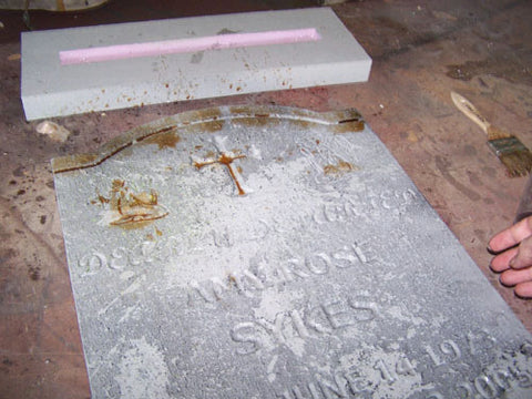 Brown Paint Tombstone