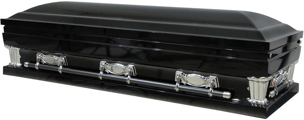Gloss Black Casket Rental