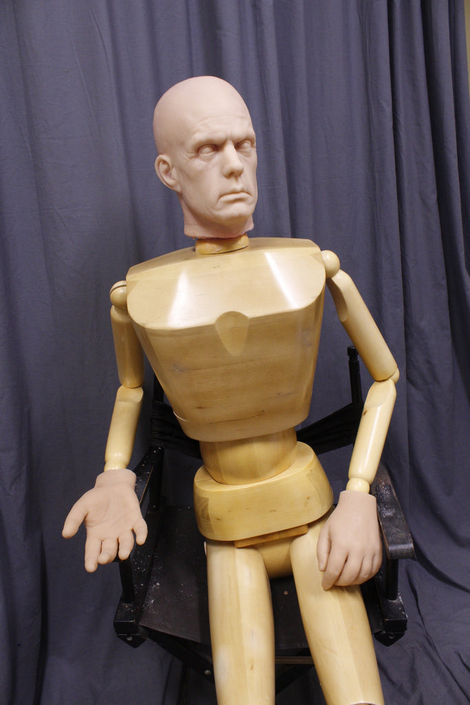 Silicone and Wood Poseable Burn Dummy
