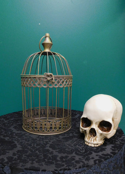 Classic Brass Round Birdcage - Small
