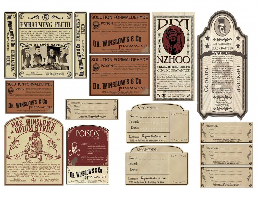 Vintage Labels Sheet