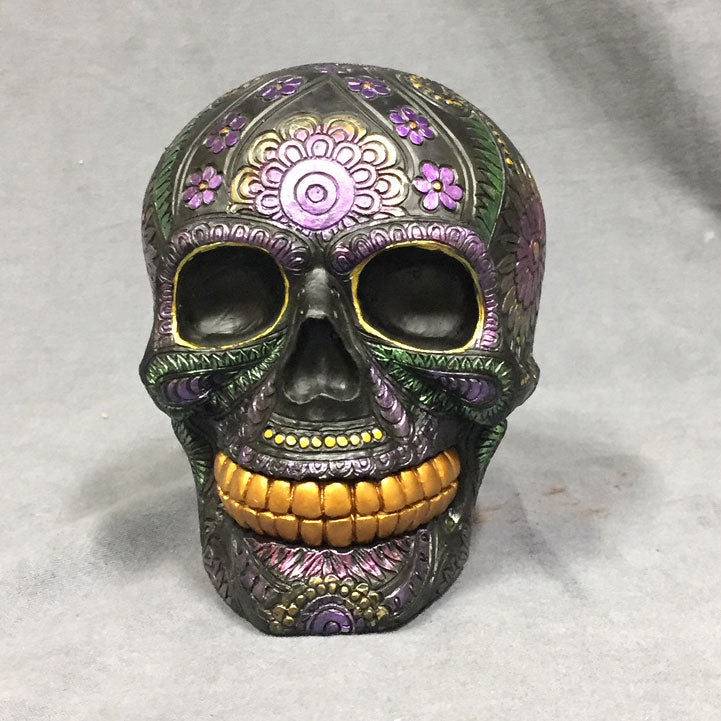 Purple Day of the Dead Decorative Skull