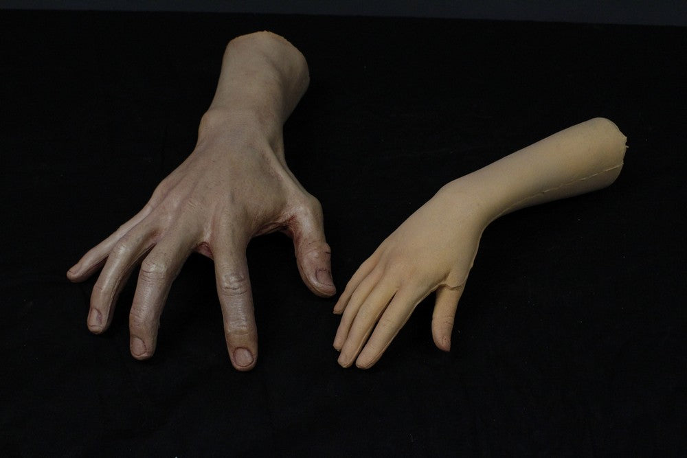 Compared with adult hand