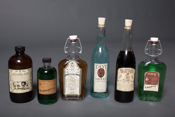 6 Vintage Remedies Bottles