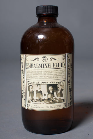 Vintage Embalming Fluid Bottle