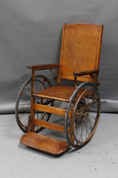 Vintage Wooden Wheel Chair Item