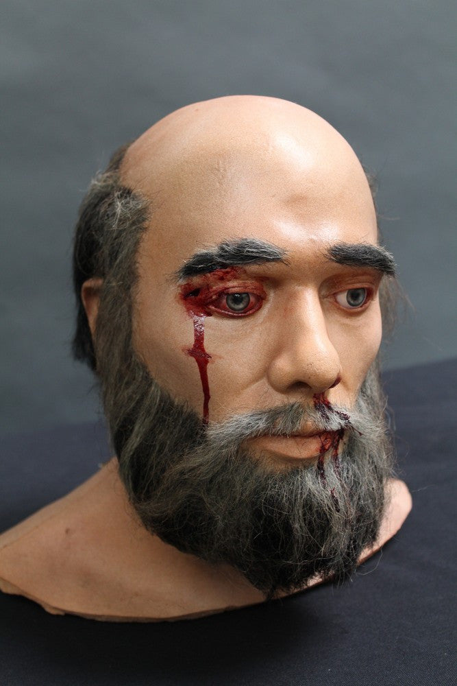 Wounded David Head with Beard