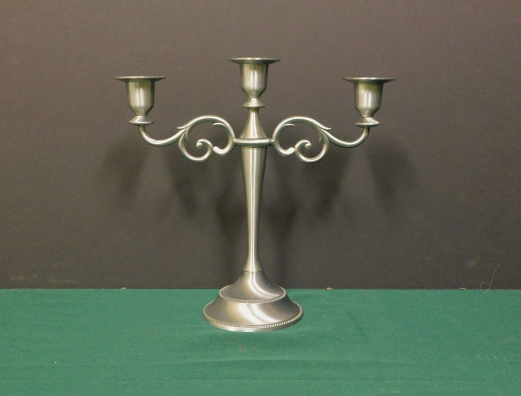 Classic Pewter Tabletop Candelabra
