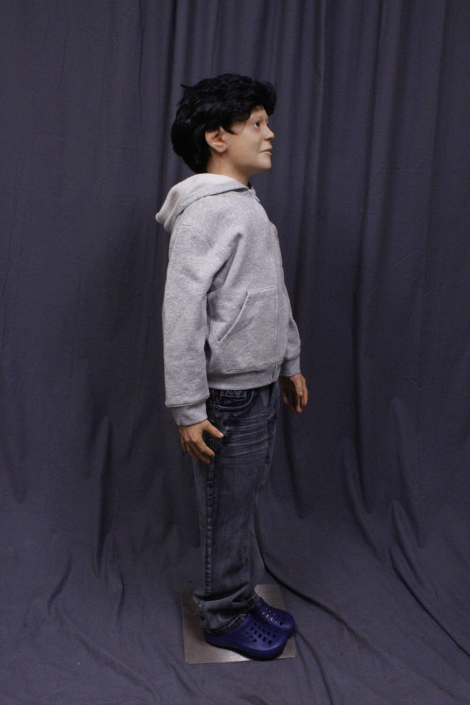 Poseable Standing Boy Child Figure