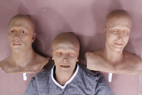 Victim Stunt Dummy with 3 Assorted Interchangeable Heads