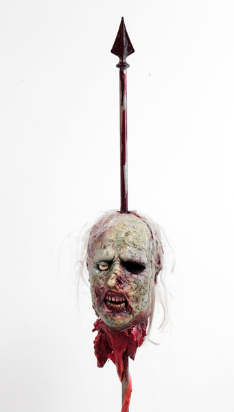 "Zombie ""Kemmler"" Head on a 5 ft Spike"