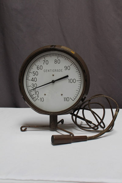 Large Dial Brass Thermometer