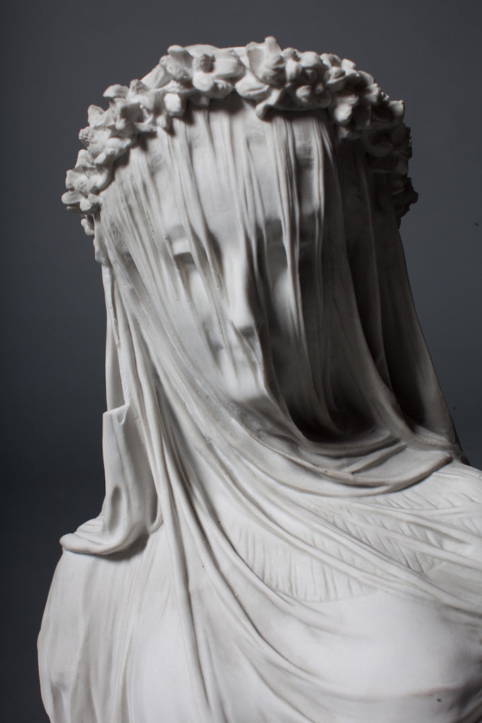 Maiden Bust in Mourning Veil