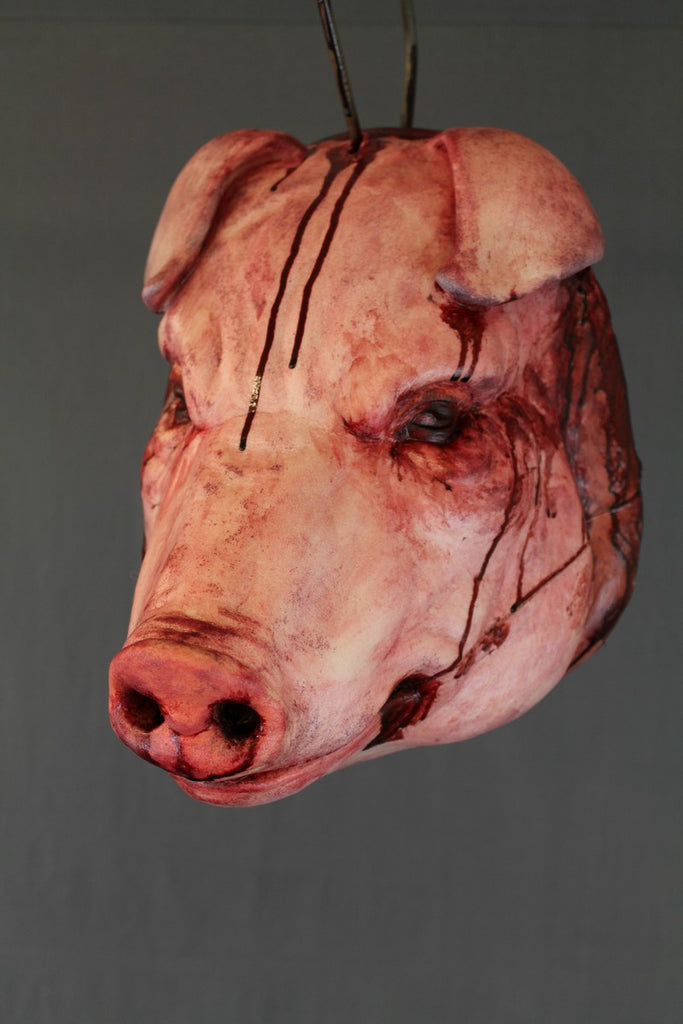 Splatter Hanging Pig Head - Stock