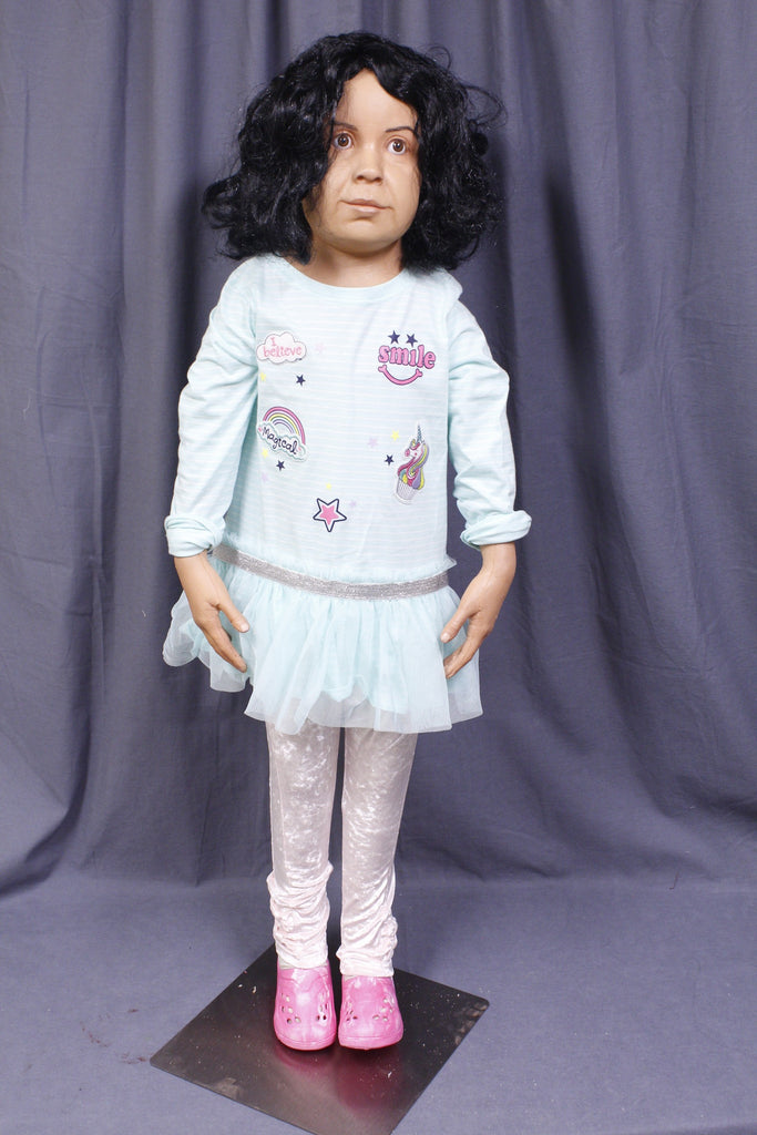 Poseable Preschool Girl Child Figure