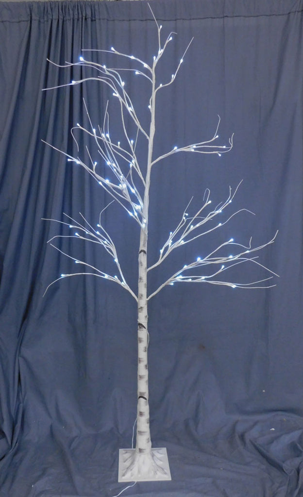 White Light Up Halloween Tree Rental
