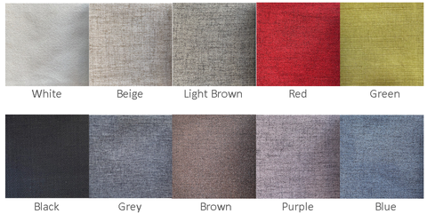 Color chart for fabrics by Classic Furniture