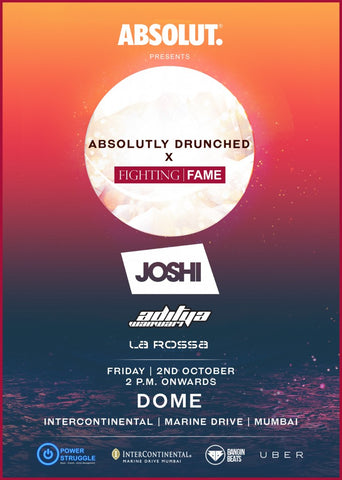 Absolutly Drunched X Fighting Fame, at Dome, Intercontinental Marine Drive, Mumbai, October 2nd