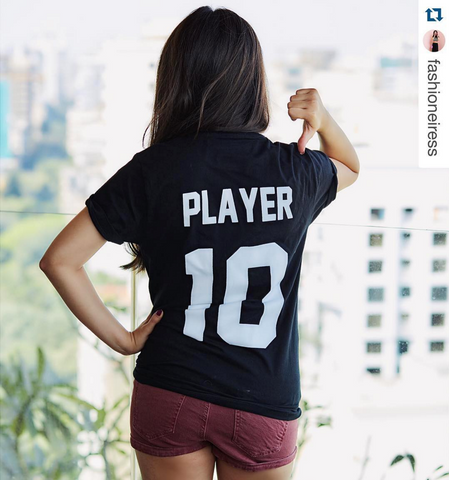 Sonam Babani #Fashioneiress for Fighting Fame x Player 10 Black Jersey