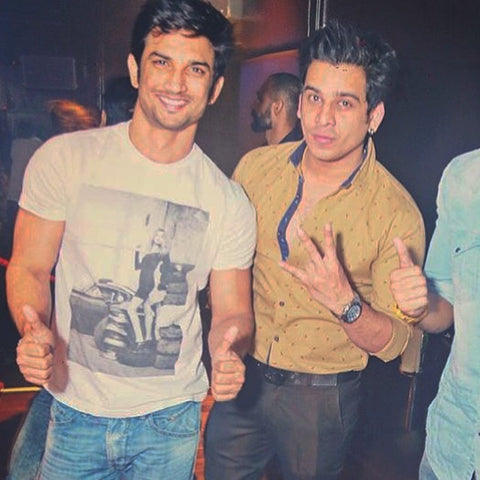 Sushant Singh Rajput plays it out casual in Debut Fighting Fame Garage Chic at Kitty Su Mumbai - styled by Tanya Vohra.
