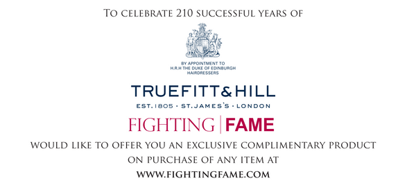 Celebrating 210 Successful years of Truefitt and Hill X Fighting Fame