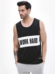 Work Hard Play Hard Black Vest