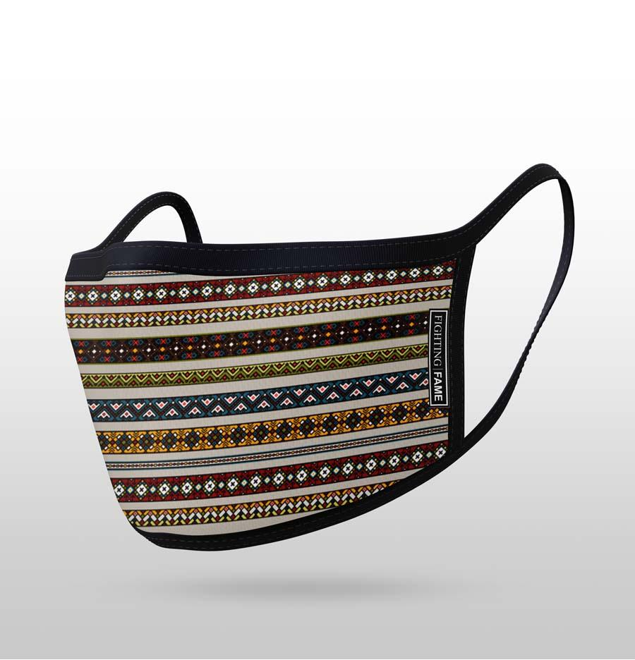 MODERN ETHNIC STRIPE MASK