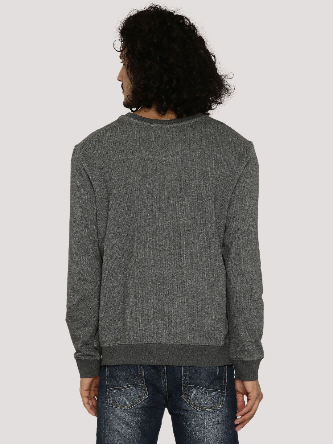 DRAKE AND BAKE Grey Melange Sweatshirt - Fighting Fame  - 2