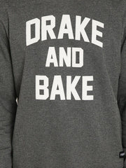 DRAKE AND BAKE Grey Melange Sweatshirt - Fighting Fame  - 3